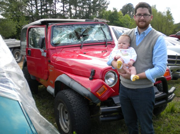"""thanks for keeping my daddy alive, mr. jeep"""
